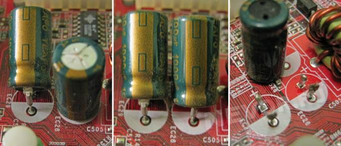 выламывание конденсатора с платы
