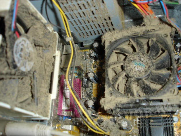 пыль в системном блоке ПК
