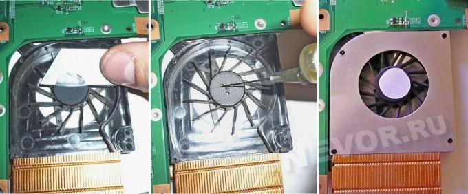 смазка подшипника вентилятора