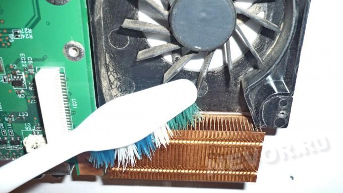 очистка радиатора от пыли